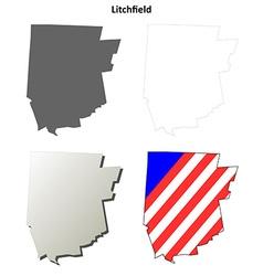 Litchfield Map Icon Set vector