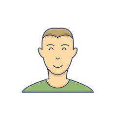 male avatar profile flat icon isolated on white vector image