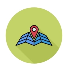 Map pointer flat icon vector image
