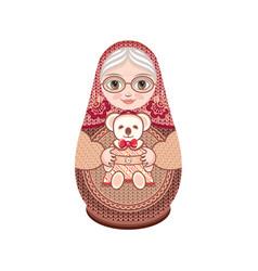 Matryoshka babushka doll vector