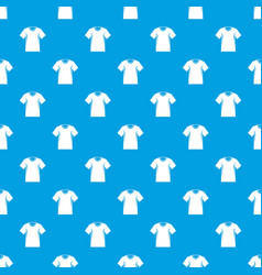 men tennis t-shirt pattern seamless blue vector image