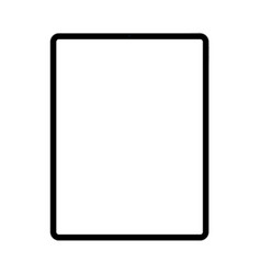Modern black tablet computer with blank screen vector