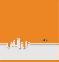 Modern cake background design vector