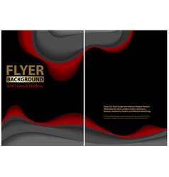 modern flyer paper cut style design with layers vector image