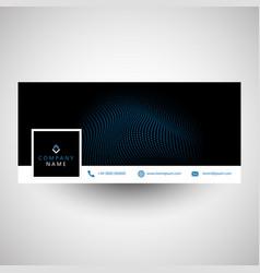 Modern social media cover design vector