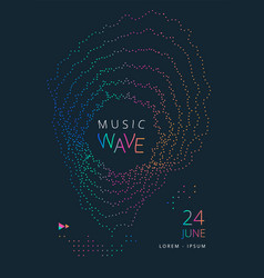 music wave poster vector image