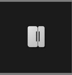 Pause button icon vector