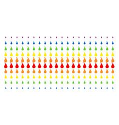 pear shape halftone spectrum effect vector image