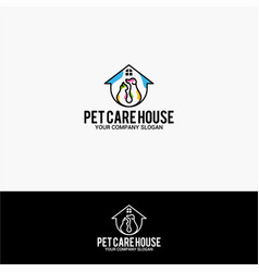 pet care house vector image