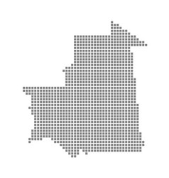 pixel map of mauritania dotted map of mauritania vector image