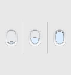 plane windows airplane portholes air travel vector image