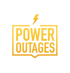 Power outages badge icon stamp logo vector