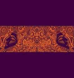 Psychedelic colorful fantasy kaleidoscope girls vector