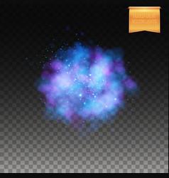 Puffy blue burst on transparent background vector
