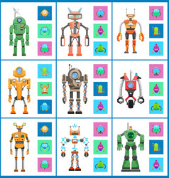 robot with screens and wheels vector image