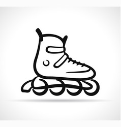 roller skate black icon vector image
