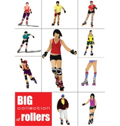 Rollerskating Girls vector