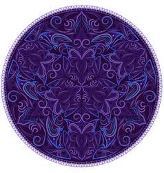 Round print design vector