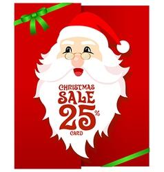 Santa Gift Card vector image