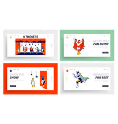 school or talent show performance on stage website vector image