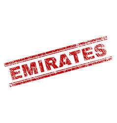 Scratched textured emirates stamp seal vector