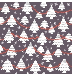 Seamless christmas pattern in flat style vector