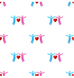 seamless pattern with couple icons give love vector image