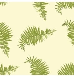 Seamless pattern with fern leaves vector