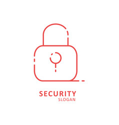 security typography with lock logo vector image