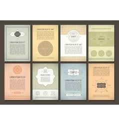 set brochures in vintage style vector image
