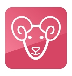 Sheep icon Farm animal vector