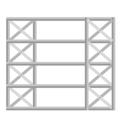 Shelving warehouse isolated icon vector