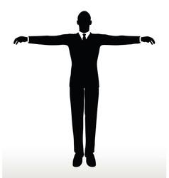 Silhouette of businessman default pose vector