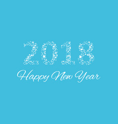 text design christmas and happy new year 2018 vector image