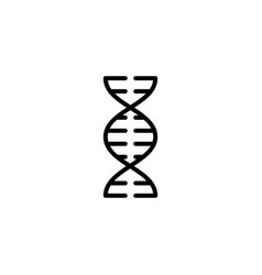 Thin line dna icon on white background vector