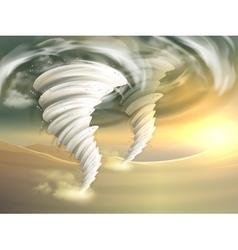 Tornado swirls vector