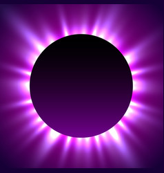 Total eclipse of the sun eclipse magic background vector