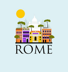 travel background rome vector image