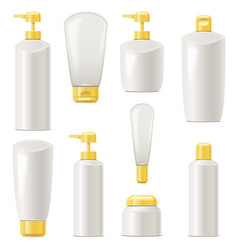 unlabeled cosmetic packaging set 4 vector image