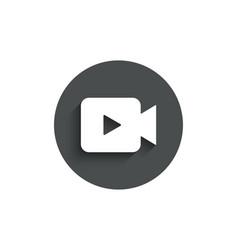 video camera simple icon movie or cinema sign vector image