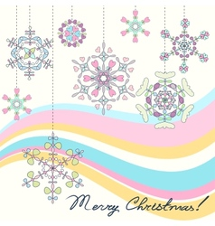 Vintage Christmas background with stylized vector image
