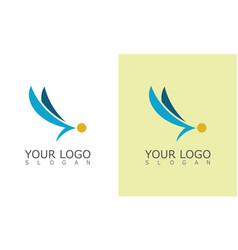 wing company logo vector image