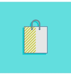 With a shopping bag in flat style design vector