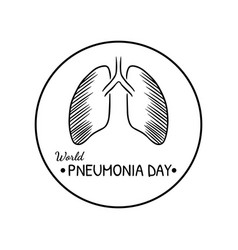 world pneumonia day logo vector image