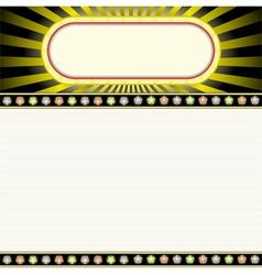 glowing billboard vector image vector image
