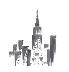 New York skyscrapers vector image vector image