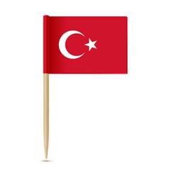 turkey flag flag toothpick vector image