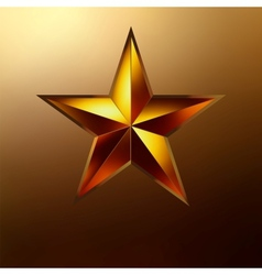a Red star on gold EPS 8 vector image