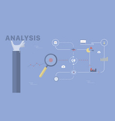 analysis background vector image
