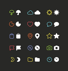 Color web interface icons clip-art vector image